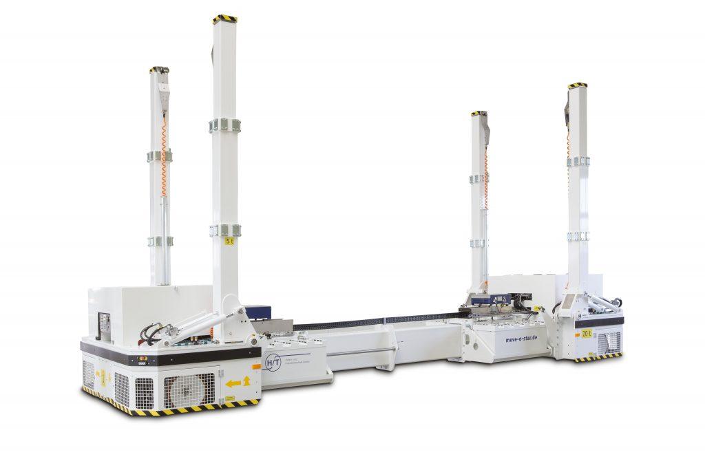 move-e-star designed for transporting working plattforms