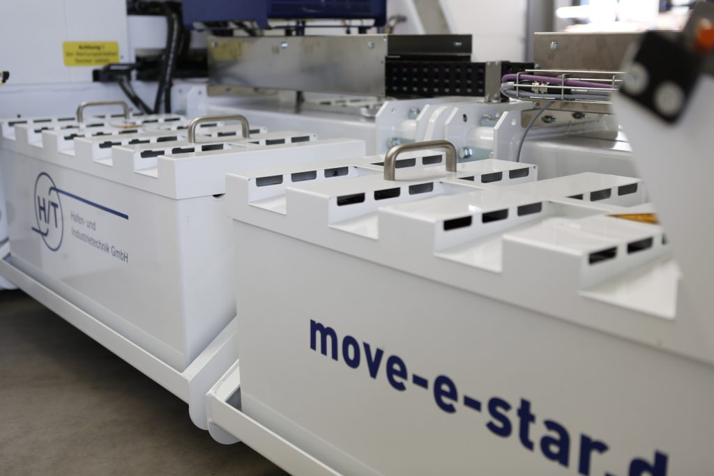 Close-up of move-e-star surface